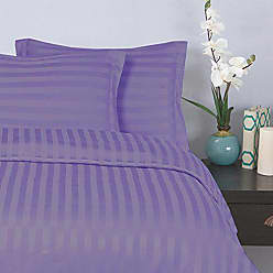Elegant Comfort Silky-Soft 1500 Thread Count Egyptian Quality Wrinkle-Free 3-Piece Duvet Cover Set, King/Cal-King, Lilac