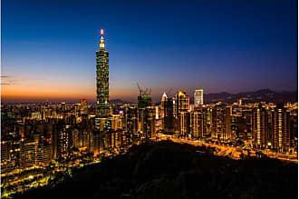 Noir Gallery Taipei 101 Skyline from Elephant Mountain Canvas Wall Art - TPTW-03-TW-08