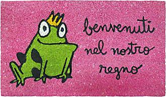Jute And Base Antiscivolo 40/x 70/x 1.8/cm Rosa laroom Zerbino Coccodrillo Motivo um Bon Dia