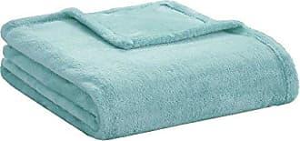 INTELLIGENT DESIGN Microlight Plush Luxury Oversized Throw Aqua 60x70 Premium Soft Cozy Microlight Plush For Bed, Couch or Sofa