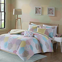 Urban Habitat Trixie Full/Queen Comforter Sets for Girls - Pink Yellow Teal, Geometric - 5 Pieces Kids Girl Bedding Set - Cotton Childrens Bedroom Bed Comforters