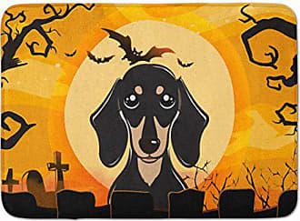 Carolines Treasures Halloween Scary Dachshund Chocolate Floor Mat 19 x 27 Multicolor