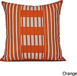 E by Design E by design Beach Blanket Stripe Throw Pillow 16 Orange