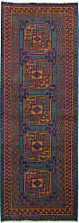 Nain Trading Oriental Afghan Akhche Baghlan Rug 79x28 Runner Brown/Rust (Wool, Afghanistan, Hand-Knotted)