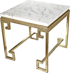 A&B Home A&B Home KIF40323 Kathy Ireland Phoenecian Nights Marble End Table, 25 X 25 Phoenecian Nights Marble End Table