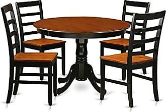 East West Furniture HLPF5-BCH-W 5 Piece Hartland Set, Black/Cherry