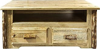 Montana Woodworks Glacier Country Collection Coffee Table with 2 Drawers