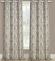 United Curtain Taylor Woven printed Window Panel Pair, 76 by 63, Gold, 76 X 63