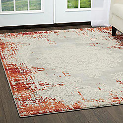 Home Dynamix Palmyra Rene Area Rug 79x102, Distressed Red