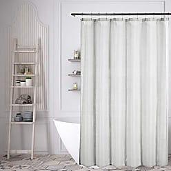 Duck River Textile Lala + Bash Juniper Metallic Fabric Shower Curtain Liner Waterproof, 70 x 70, Grey