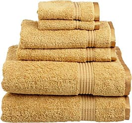 Home City Inc. Superior 100% Long Staple Combed Cotton Towel Set, 6 Piece, Gold