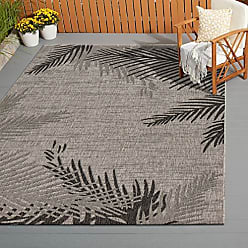 L.R. Resources Inc. LR Home CAPTI81016BEL5070 Captiva Shaded Palms Indoor/Outdoor Area Rug, 5 x 7, Beige/Black