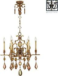 Fine Art Lamps 718240-1ST Encased Gems Six-Light Single-Tier