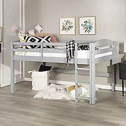 Walker Edison WE Furniture AZWSTOLLGY Loft Twin Bed, Gray