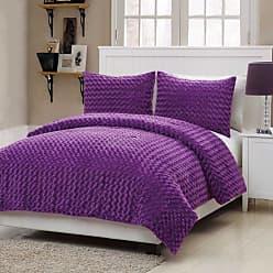 VCNY Victoria Classics Rose Fur Comforter Set Purple, Size: Twin - RFU-2CS-TWIN-IN-PU