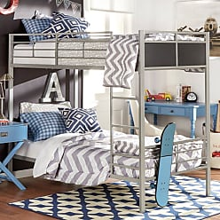 Weston Home Twin Over Twin Metal Bunk Bed - E730T-1(3A)[BUNK]