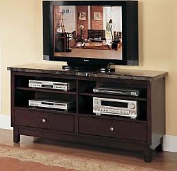 ACME Danville Black Marble TV Stand - 07093B