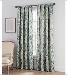 C&A Colette Print Rod Pocket Window Curtain Panel - Aqua - Size:108 Unbranded