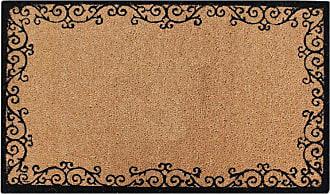 First Impression Scrolled Bordered Coir Indoor/Outdoor Door Mat - PT3007
