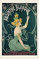 Buyartforless Buyartforless Absinthe Blanqui by Nover 36x24 Museum Art Noveau Art Print Poster Pretty Girl Drinking