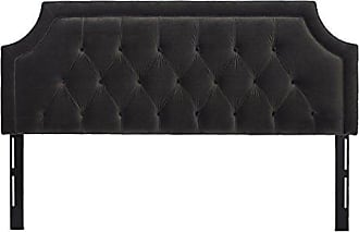 Jennifer Taylor Home Kaye Collection King Size Size Modern Adjustable Diamond Tufted Bed Headboard, King Size, Dark Charcoal Grey