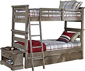 Hillsdale Furniture 7104-011NBT Oxford Bunk Bed with Trundle, Twin Over Twin, Cocoa