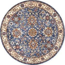 Nourison 5 Reseda Floral Round Area Rug - Blue