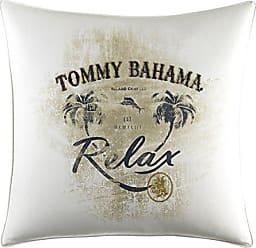 Revman International Tommy Bahama Palms Away Relax Print Throw Pillow, 20x20, Light Beige