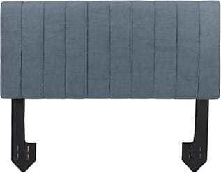 Ashley Furniture Carrie Queen Channel Tufted Powered Headboard, Dark Gray