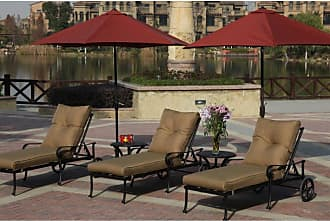 DARLEE Outdoor Darlee Santa Anita Cast Aluminum 5 Piece Patio Lounge Set - 301120-33-5PC