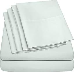 Sweet Home Collection Full Size Bed Sheets - 6 Piece 1500 Thread Count Fine Brushed Microfiber Deep Pocket Full Sheet Set Bedding - 2 Extra Pillow Cases, Great Value, Full, Mint