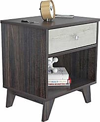 Inval America Inval MN-3710 Nightstands Night Stands 1 Drawer Tobacco Brown