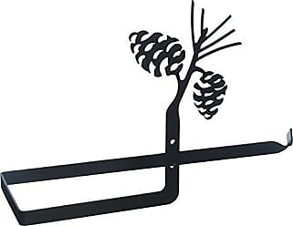 Village Wrought Iron 12 Inch Pinecone Paper Towel Holder Wall Mount