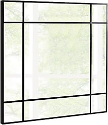 Whiteline Sebastian Square Mirror - MR1410-GRY