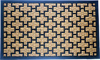 Geo Crafts Rubber Backed Flat Weave Cross Doormat