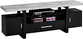 Monarch Specialties I I 2726 TV Stand, 60 L, Black