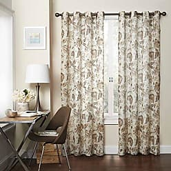Ellery Homestyles Eclipse 15459052084NAT Wythe 52-Inch by 84-Inch Floral Light Filtering Single Sheer Curtain Panel, Natural