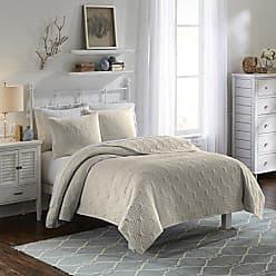 Ellery Homestyles Vue 15974BEDDF/QKHK Atlantis 90-Inch by 90-Inch 3-Piece Full/Queen Bedspread Set, Khaki