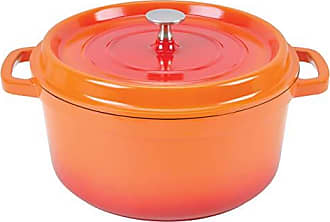Paderno World Cuisine A1760016 Cast Aluminum Round Dutch oven, 1.41QTS, Orange