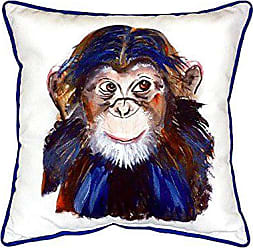 Betsy Drake SN280 Chimpanzee Small Indoor/Outdoor Pillow, 12 x12