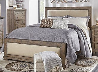 Progressive Furniture P635-94 Willow 6/6 King Upholstered Headboard, Weathered Gray