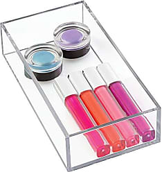 InterDesign Clarity Plastic Drawer Organizer, Storage Container for Cosmetics, Makeup, and Accessories on Vanity, Countertop, Bathroom, or Cabinet, 8 x 4 x 2, Clear