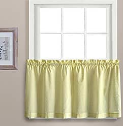 United Curtain Dorothy Window Curtain Swiss Dot Kitchen Swag, 54 by 38, Yellow