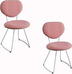 Daf Mobiliário Kit 2 Cadeira Milão Meia Lua Rosa - Daf Mobiliário