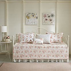 Madison Park Serendipity Daybed Size Quilt Bedding Set - Coral, Floral - 6 Piece Bedding Quilt Coverlets - 100% Cotton Bed Quilts Quilted Coverlet