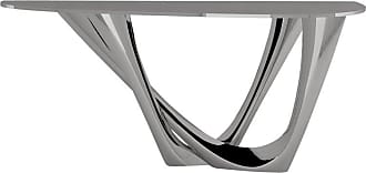 Zieta G-console Duo Table In Brushed Stainless Steel By Zieta