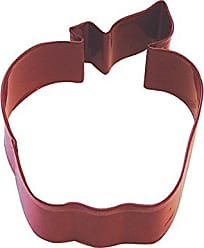 CybrTrayd R&M Apple Durable Cookie Cutter, 4-Inch, Red, Bulk Lot of 12