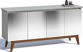 Imcal Buffet Classic 4 Portas com Espelho Branco Acetinado - Imcal