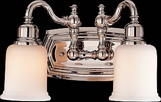 Feiss VS8002-PN Canterbury Vanity Strip in Polished Nickel finish with Opal white etched glass shade