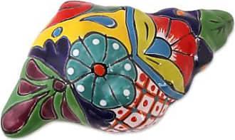 Novica Ceramic sculpture, Talavera Conch